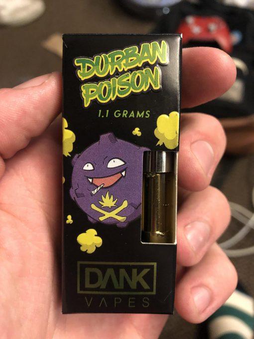 durban poison dank vapes cartridges